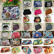 Womens Mini Small Clutch Wallet Owl Floral Hasp Purse Coin Pocket Holder Handbag