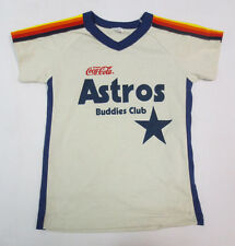 HOUSTON ASTROS PRINTED SHIRT YOUTH BOYS MLB BASEBALL TEAM  VTG VINTAGE RETRO