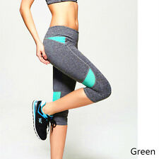 Women Yoga Running Pant High Waist Trousers Fitness Gym Clothes Capri Pants