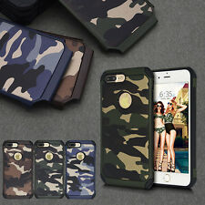 Hybrid Shockproof Rubber Armor Camo PC Hard Case Cover For Apple Iphone 7 Plus
