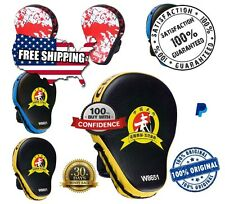 Focus Punch Pad NEW Target MMA Boxing Mitt Training Glove Karate Muay Thai Kick!