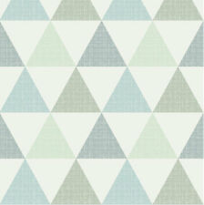 Textured Triangle Blue Green Fabric Printed by Spoonflower BTY