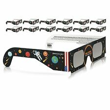 Solar Eclipse Glasses 2017 Galaxy Edition (10 Pack) CE and ISO Standard Viewing@