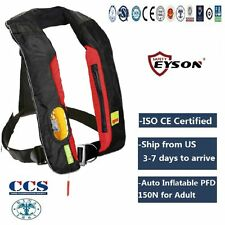 PFD Auto Inflatable Life Jacket Vest 150N Neck Type Eyson for Adult-ES718