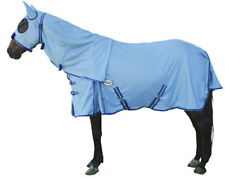 CARIBU ENDURO FLY AIR MESH Attached Hood Horse Rug, Cool Strong 410gsm. Blue
