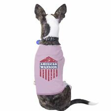 American Warrior Pink Unique July 4 Pets Cotton Tee Small Pet Only
