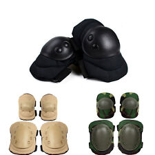 4pcs Knee Elbow Protective Pad Protector Gear Tactical Airsoft Combat Accessory
