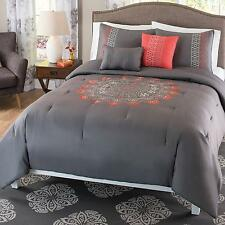 Better Homes and Gardens Catalina 5 Piece Embroidered Bedding Comforter Set,...