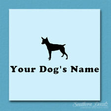 Custom Rat Terrier Dog Name Decal Sticker - 25 Colors - 6 Fonts