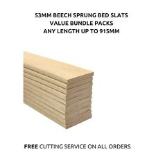 53mm Wide Replacement Curved Bent Wooden Beech Sprung Bed Slats Slates 10 Pack