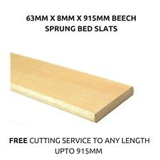 63mm Wide Replacement Curved Bent Wooden Beech Sprung Bed Slats / Slates Spares