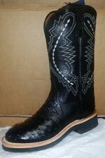 Lucchese 2000 T1065 Black Pin Ostrich and Goat