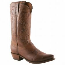 Lucchese 1883 Tan Burnished Jersey Calf Men's Cowboy Boots NV1500