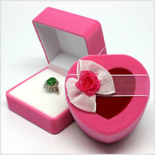 Necklace Ring Gift Boxes Jewelry Box Velvet Heart Earring Box Wedding Case 080