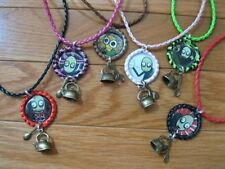 New SALAD FINGERS Bottlecap Leather Necklace with Rusty Kettle & Rusty Spoon