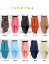New Fashion Women Chiffon Pleated Retro Asymmetrical Swallow Tail Short OK02