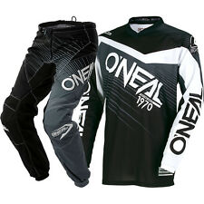 NEW Oneal 2018 Youth MX Element Black Grey Jersey Pants Kids Motocross Gear Set