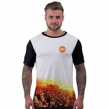 Mens All Over Print T Shirt Two Tone New York Sunset Urban Hip Hop Printed Tee