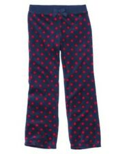 New Gymboree Homecoming Kitty Girl's Blue Polka Dot Velour Pants Size 5 6