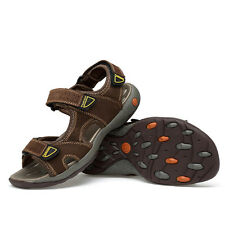 Big Size US6-12 Leather Sport Sandals Lightweight Mens Casual Summer Shoes