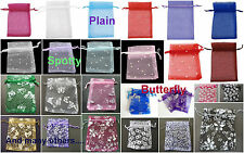 25 x Organza Gift Bags Wedding Favours Jewellery Bags UK Seller Many Varieties