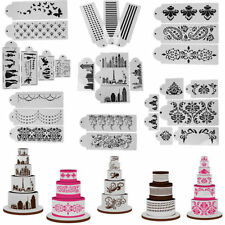 Lace Flower Cake Cookie Fondant Side Baking Wedding Stencil Decor DIY Tools