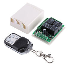 DC12V 4 Channel 433MHZ Wireless Garage Doors Control Relay Switch Receiver Board