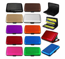 RFID Protected Aluminum Wallet With ID Credit Card Waterproof Card Holder