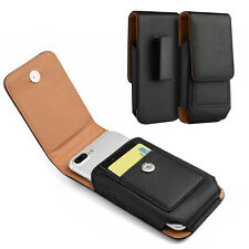 HOLSTER BELT CLIP LEATHER CASE POUCH FOR MOTOROLA MOTO Z2 PLAY OR MOTO Z DROID