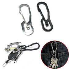 1Pc Stainless Steel Buckle Carabiner Keychain Key Ring Clip Hook Outdoor
