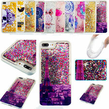 Bling Cartoon Pattern Liquid Glitter Case Cover For Apple Iphone 5S 6S 7 Plus