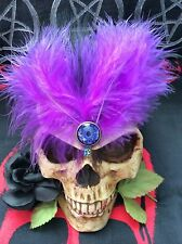 GOTHIC,MAGIC,WITCH,PURPLE FEATHER HAIR CLIP...Lolita,Rockabilly,Pin-Up,SteamPunk