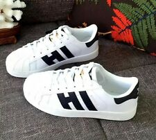 Men Women's Lady Striped Lace Up Sport Running Sneakers Superstar Trainers Shoes