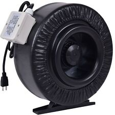 """4"""" 6"""" 8"""" Inline Duct Fan Hydroponics Exhaust Cooling Blower Temperature Control"""
