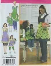 Simplicity 3746 Misses/childs/doll apron sewing pattern UNCUT