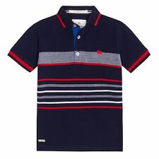 J By Jasper Conran Kids Boys' Navy Stripe Polo Shirt From Debenhams