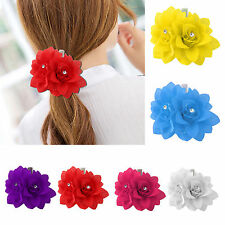 Flower Prom Small Hair Clip Bridal Bridesmaid Party Wedding Rose Women Hairband