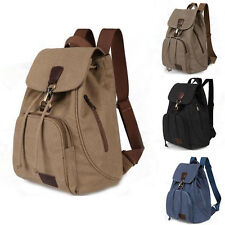 Vintage Women Canvas Travel Satchel Shoulder Bag Backpack Student Retro Rucksack