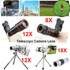 US 8X 12X 18X Zoom Phone Camera Telescope Lens For Samsung S8 S7 S6 S5 S4 S3 S2