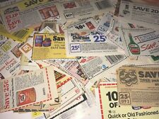 """Over 200 Vintage - Modern Mixed Lot """" No Expiration Date """" Manufacturer Coupons"""