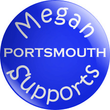 Personalised Name Supporter Portsmouth Pin Badge Football Kids Childrens Gift FC