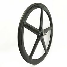 700C Tubular Clincher Carbon 5 Spoke Wheel 21mm Wide Road Fixed Track Bike Wheel