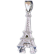 18K Gold Eiffel Tower Pendant (Yellow or White Gold) - AZ11277-18K