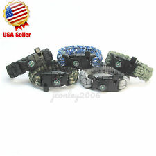 5in1 Outdoor Camping Survival Equipment EDC Multifunction Paracord Bracelet 550