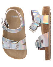 NWT Gymboree Mermaid cove Silver Sandals Shoes 6,8 9,12,13,1,2,4 Girls