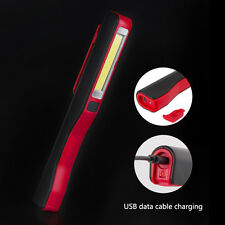 COB LED Rechargeable Magnetic Pen Clip Hand Torch USB Work Light Inspection Lamp