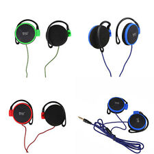 Wired Clip On Ear Headphones EarHook Earphone For Mp3 Player Computer Phones