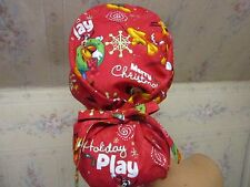 MICKEY MOUSE -XMAS PRINT ponytail style -SCRUB HAT / MEDICAL /SURGICAL