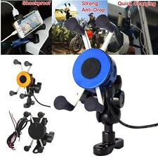 Universal Motorcycle Bicycle MTB Handlebar Mount Holder Charger For Phone GPS AB