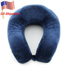 Soft Memory Foam U Shape Travel Pillow Neck Support Head Rest Car Cushion Velvet